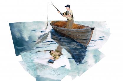 Fishing, Grace Alexandra Russell (http://www.gracerussell.co.uk/)